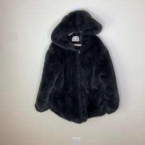 Zara Kids Faux Fur Jacket with Hood